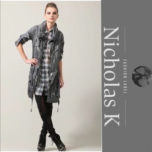 🎁 NWT Nicholas K Luxury Nylon Statement Jacket
